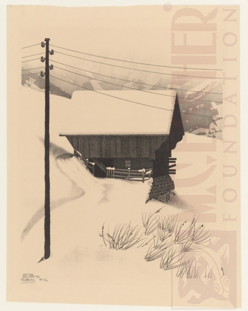 Snow. January 1936, Lithograph.