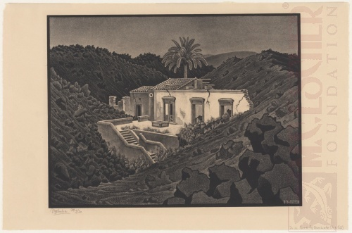House in the Lava near Nunziata. August 196, Lithograph