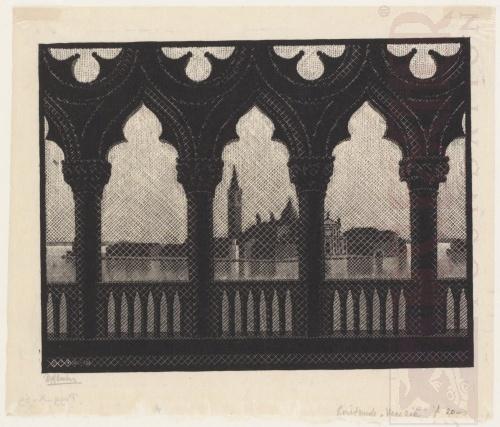 Venice. October 1936, Woodcut.