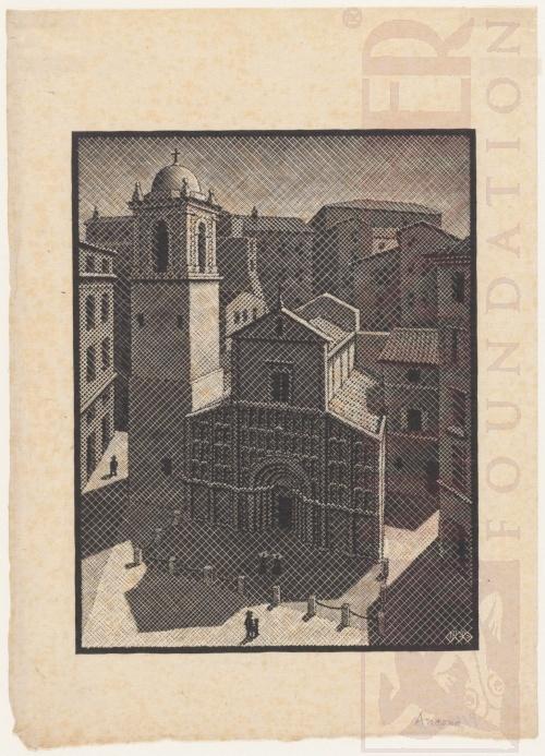 Ancona. November 1936, Woodcut.