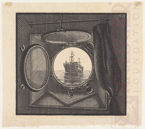 Porthole. March 1937, Woodcut.