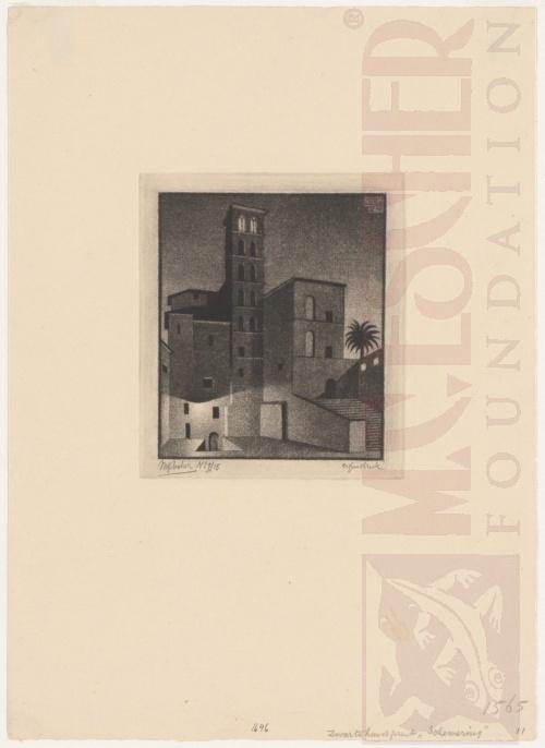 Dusk (Rome). May 1946, Mezzotint.