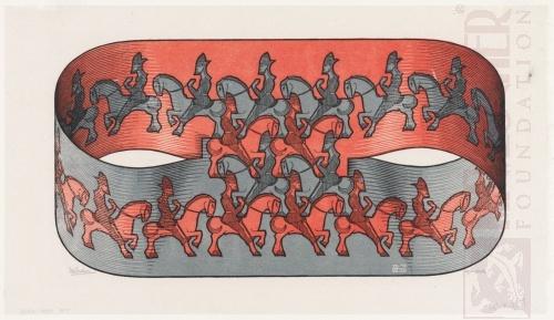 Horseman. July 1946, Woodcut, printed from three blocks.