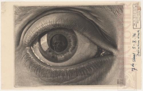 Eye. October 1946, Mezzotint, final version.