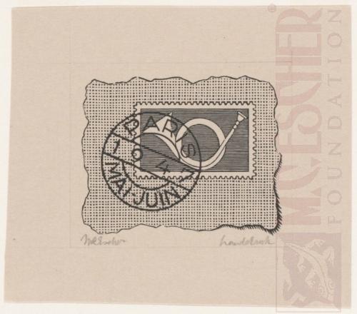 XIIme Congres Postal Universel: vignette. April 1947, Lithograph.