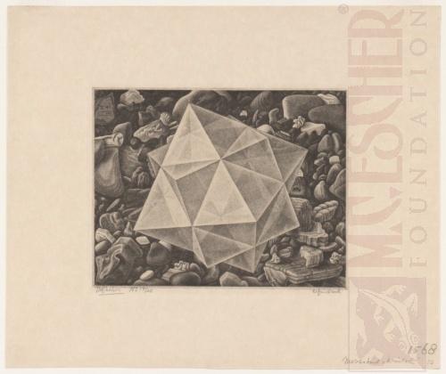 Crystal. December 1947, Mezzotint.