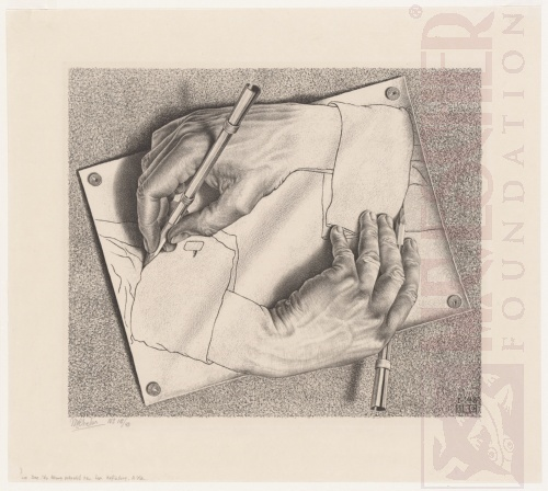 Drawing Hands. January 1948, Lithograph.