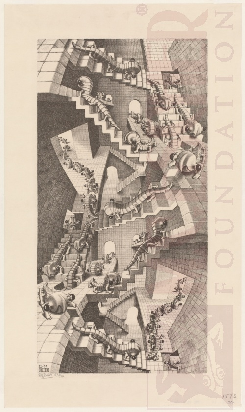 House of Stairs. November 1951, Lithograph.