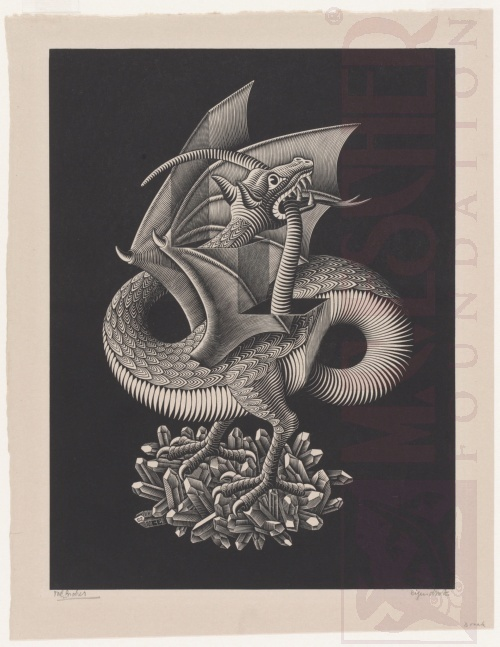 Dragon. March1952, Wood Engraving.