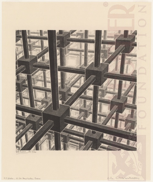 Cubis Space Division. December 1952, Lithograph.