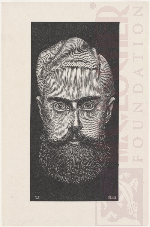 Self Portrait. November 1923. Woodcut.