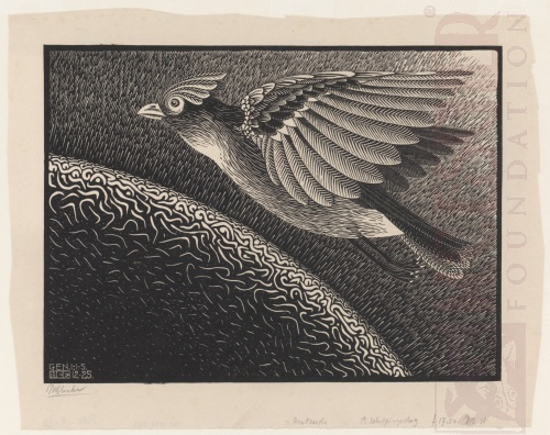 The First Day of the Creation. December 1925, Woodcut.