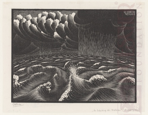 The Second Day of the Creation. December 1925, Woodcut.