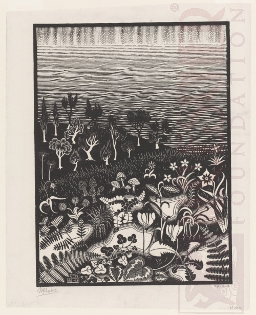 The Third Day of the Creation. January 1926, Woodcut.