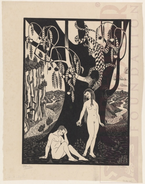 The Fall of Man. March 1927, Woodcut.