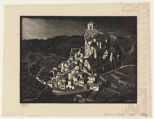 Palizzi, Calabria. October 1930, Woodcut.