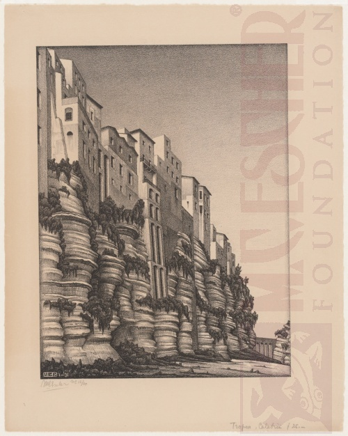 Tropea, Calabria. January 1931, Lithograph.