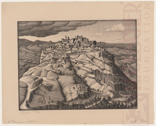 Santa Severina, Calabria. February 1931, Lithograph.