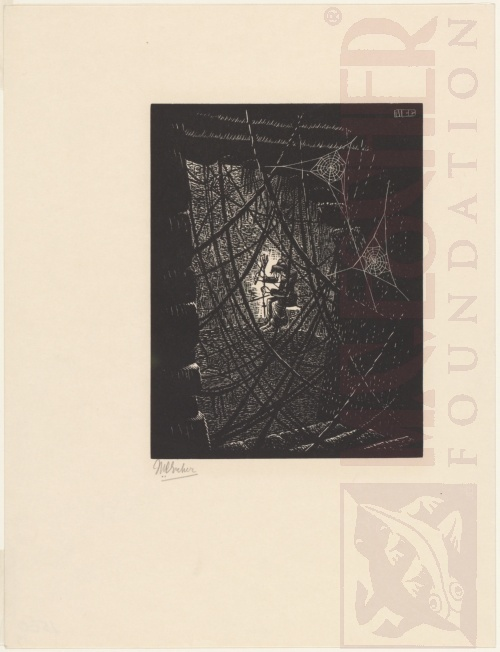 Cobwebs. 1931, Woodcut.