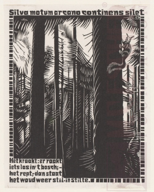 Emblemata, First Title page. March - June 1931, Woodcut.