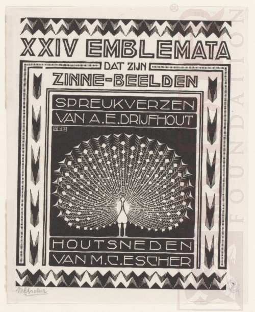 Emblemata, Second Title page. March - June 1931, Woodcut.