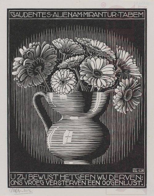 Emblemata, Vase. March - June 1931, Woodcut.