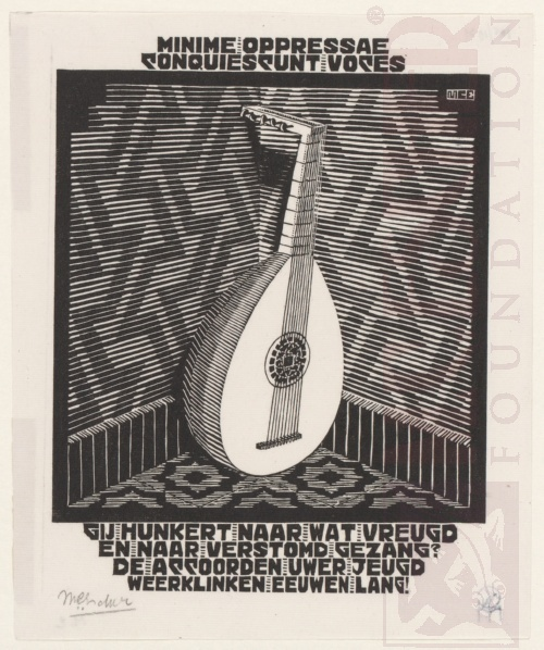Emblemata, Lute. March - June 1931, Woodcut.