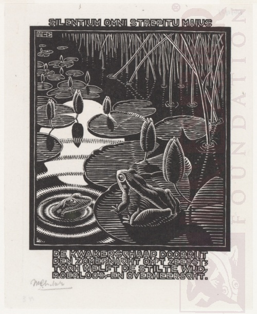 Emblemata, Frog. March - June 1931, Woodcut.