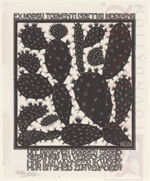 Emblemata, Cactus. March - June 1931, Woodcut.