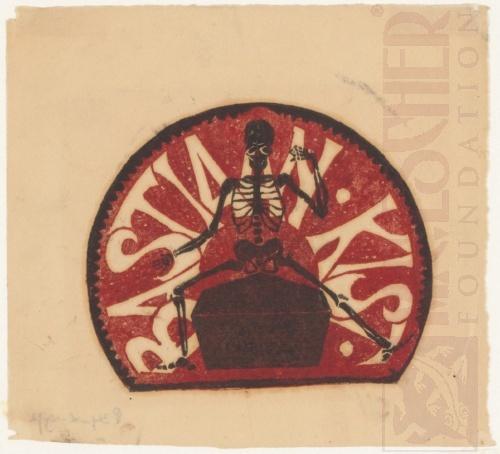 Bookplate Bastiaan Kist. 1916, Linoleum cut.