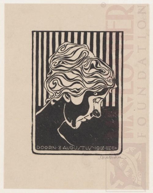 Fiet van Stolk. August1918, Linoleum cut.