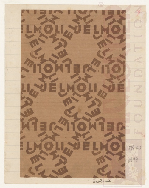 Design for wrapping-paper: Jelmoli (II). Woodcut.