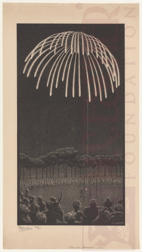 Fireworks. November 1933, Lithograph.