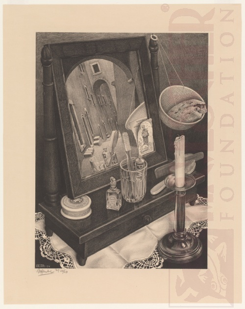 Still Life with Mirror. March 1934, Lithograph.