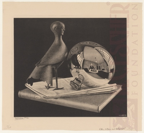 Still Life with Spherical Mirror. November 1934, Lithograph.