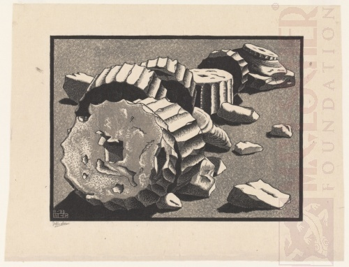 Selinunte [Sicily]. October 1935, Woodcut, printed from two blocks.