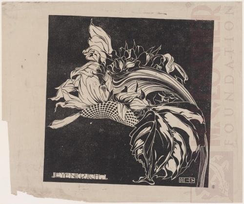 Life Force (Levenkracht). 1919, Linoleum cut.