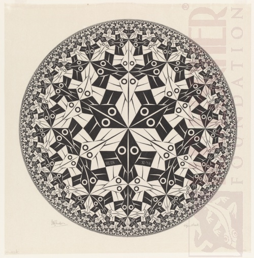 Circle Limit I. November 1958, Woodcut.