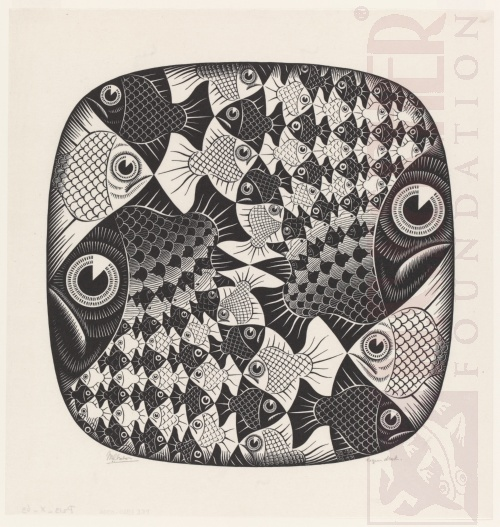 Fish and Scales. July 1959, Woodcut.