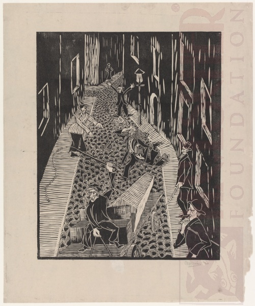 Fairy-tale. 1920, Woodcut.