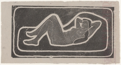 Reclining Female Nude. 1920 or 1921, Lithograph.