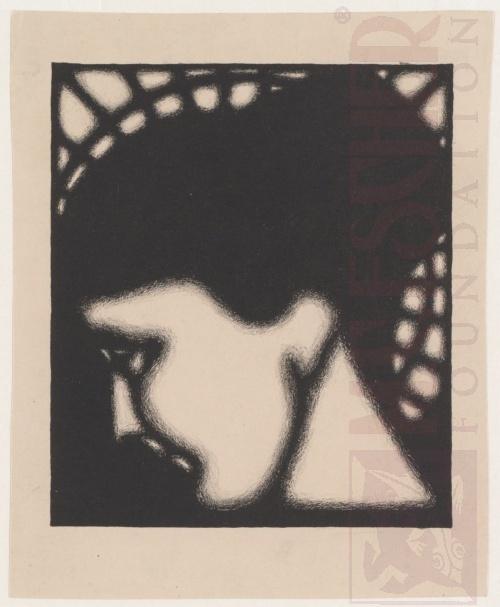 Portret Roosje Ingen Housz. 1920 or 1921, Lithograph.