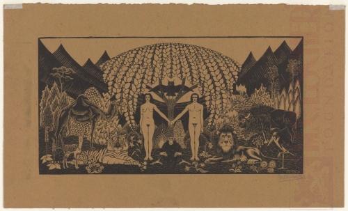 Paradise. 1920, Woodcut, printed on strawboard.