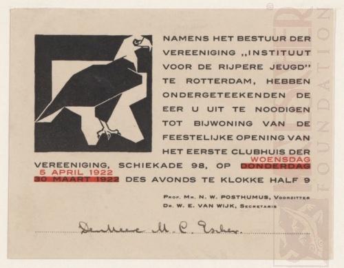 Eagle, vignette. 1922, Woodcut.