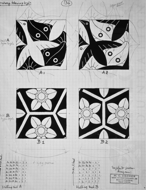 Design drawing of tiles.