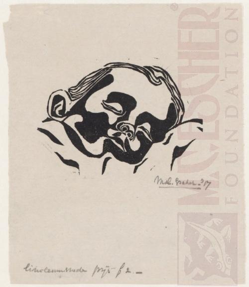Baby, 1917, Linoleumsnede
