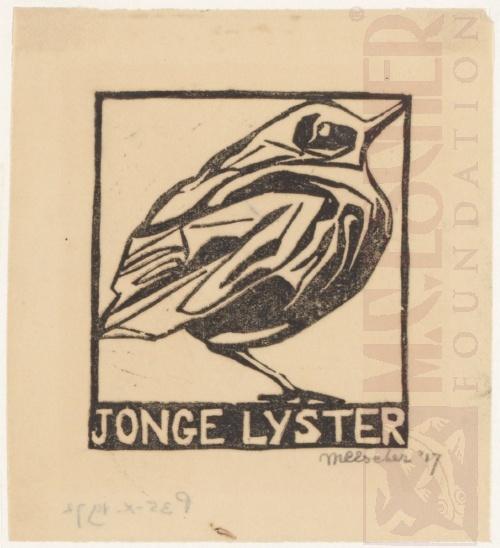 Jonge Lijster, 1917, Linoleumsnede