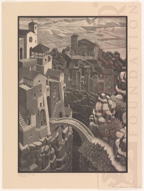 De brug. Maart 1930, Lithografie