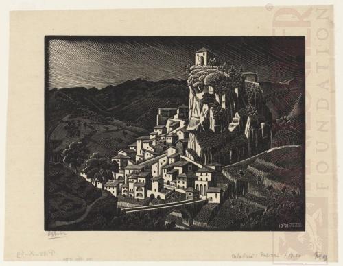 Palizzi, Calibria. Oktober 1930, Houtsnede