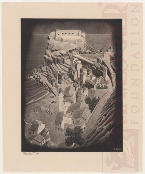 Scilla, Calabria. Januari 1931, Lithografie
